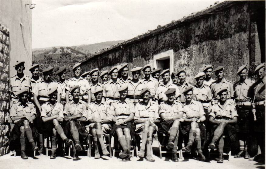 5th battalion Cameron Highlanders Officers, Sicily 1943Officers
