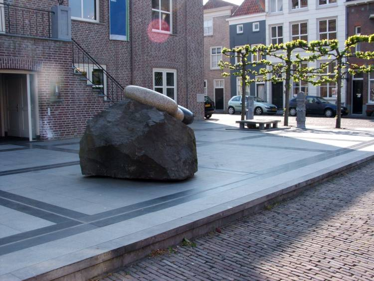 Site of the bomb damaged town hall, Heusden Holland