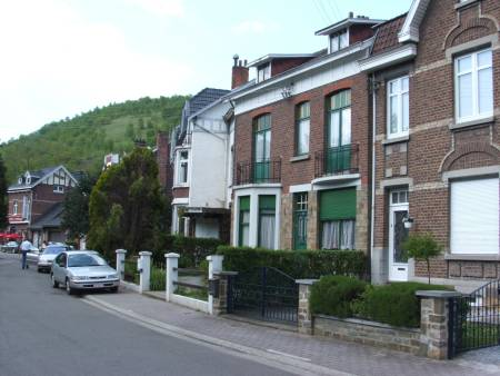 Thne street in Chaudfontaine where Sgt George Sands was billeted