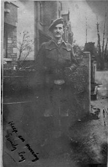 "Lt. William ""Bill"" Bowen, 5th Camerons, Chaudfontaine,  Liege 1945"