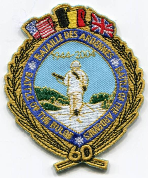 Commemorative blazer badge from people of the Ardenne for the veterans of their liberation