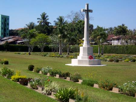 The memorial cross Rangoon cemetery