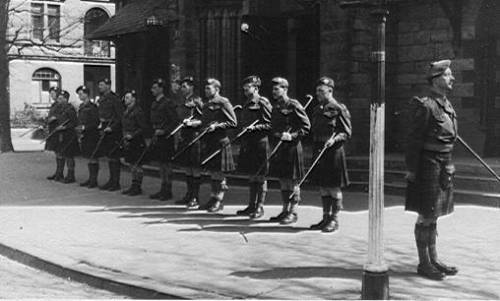 5th Cameron officers on Church parade