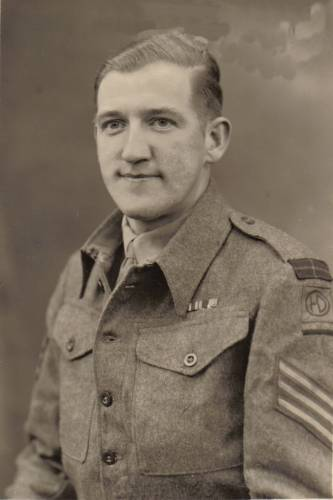 Sgt George Sands MM 1945