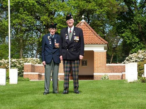 George Sands and Richard Massey, Mook war cemetery, Holland