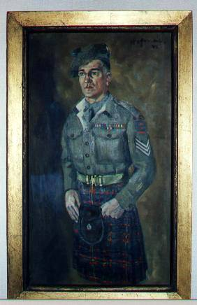 Full portrait of 2934077 Sgt George Sands MM