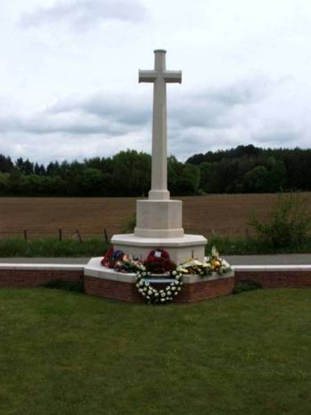Memorial cross, Hotton war cemetery, Belgium