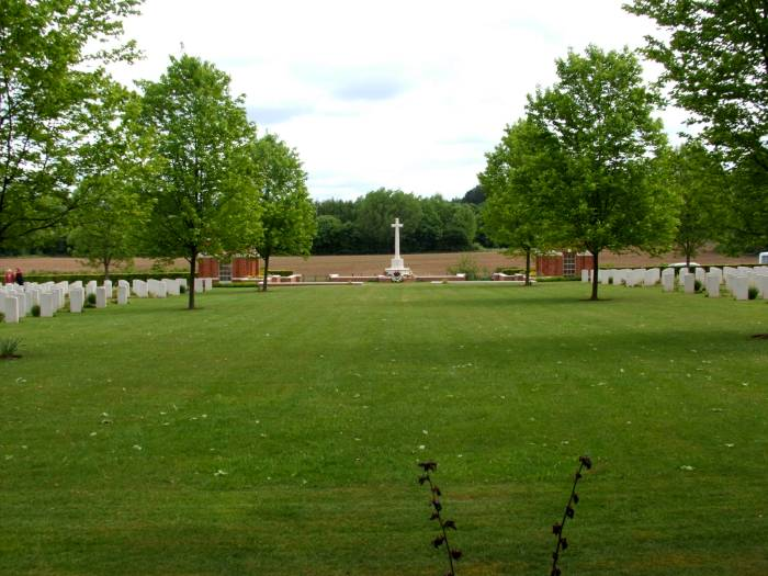 General view of Hotton war cemetery, Belgium.