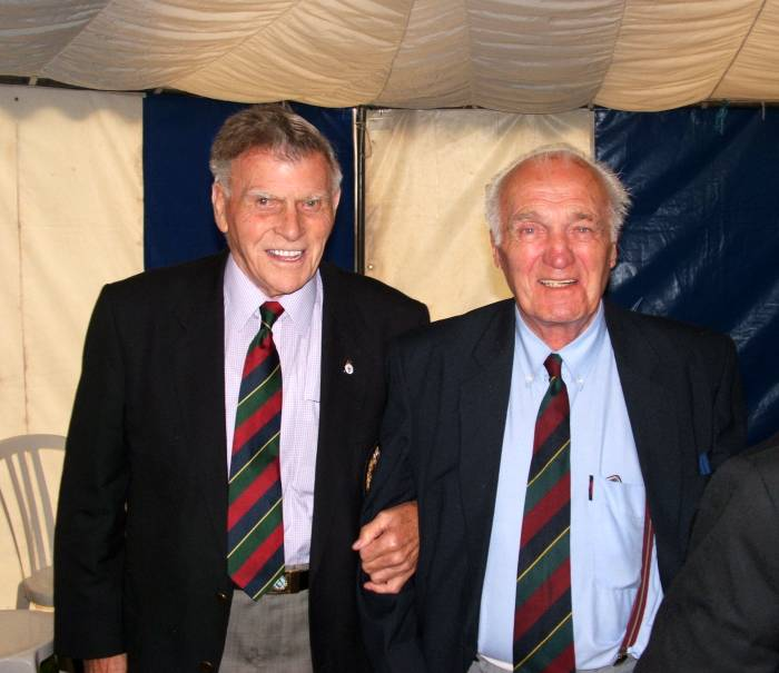 Sid Standish and Jack Galbraith, the dram tent Cameron barracks, Inverness 2006