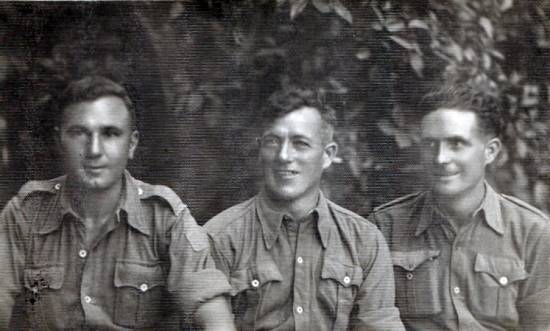 5th Camerons Flash Fleming, Ken Ransome & Ralph Sinclair, Catania, Sicily 1943..