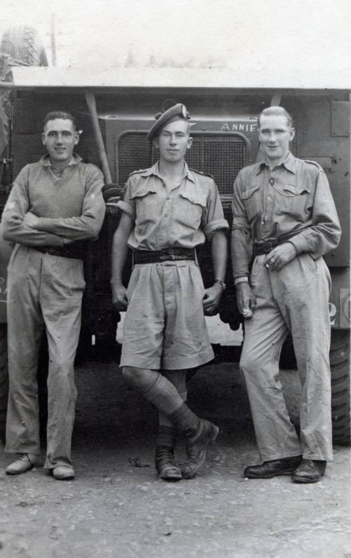 Sgt Wally Semple, Lieutenant D.W. Cairns & Sgt Sinclair, Catania Sicily October 1943