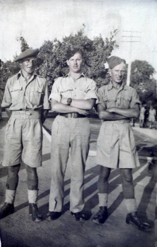 5th Camerons, Corporal Andrew Ironside, Sgt James Petrie, Corporal Bill Blair, Ismalia, North Africa September 1942