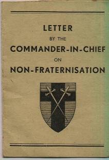Non fraternisation instruction booklet