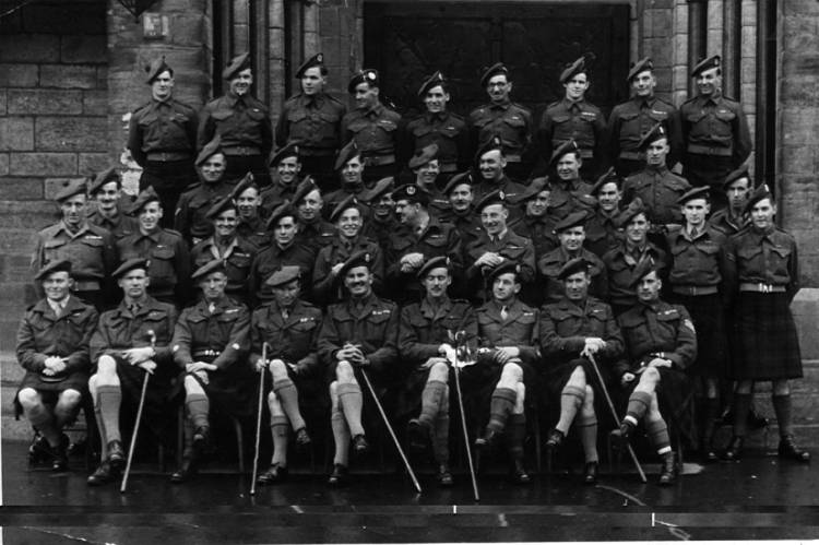Officers and NCO's 5th Camerons Germany 1945