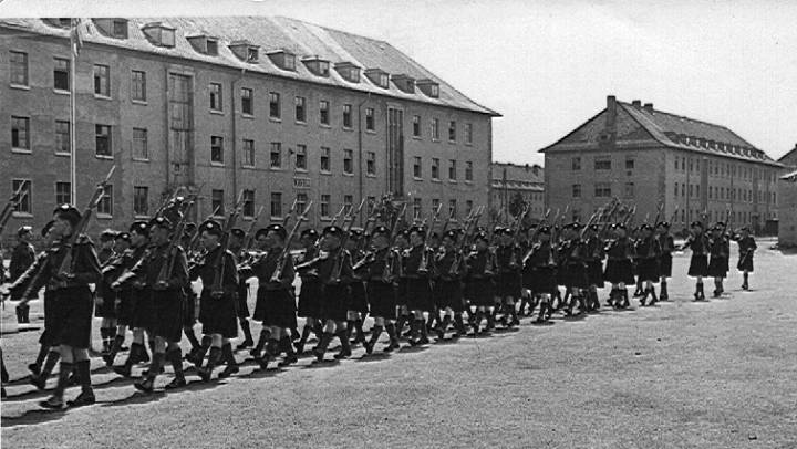 5th Camerons on parade,  Germany 1945
