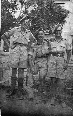 2934077 Pte George Sands and friends, Sicily 1943