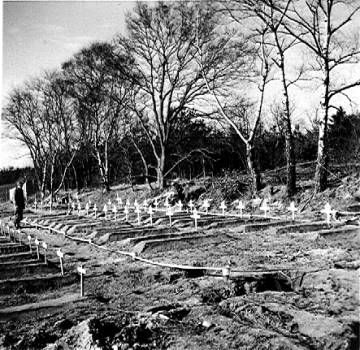 Temporary British cemetery, Grave, holland 1944